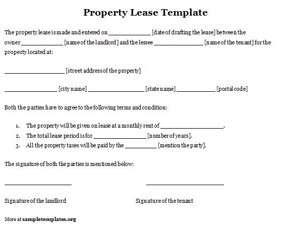 Exceptional Property Lease Template Template Throughout Lease Templates