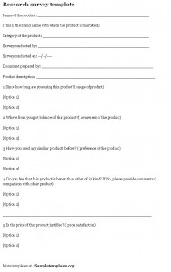 research survey template