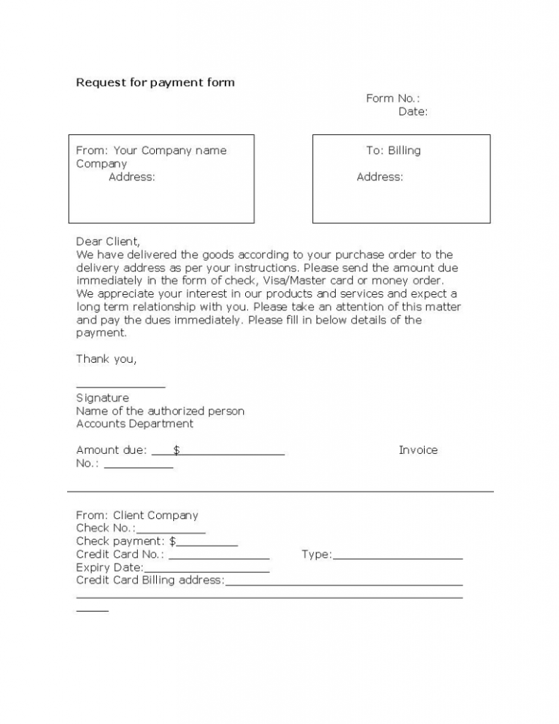 payment request form template – Payment Form Template